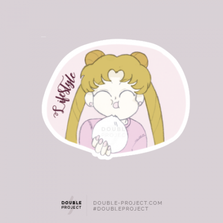 Sticker Bunny comiendo - Double Project