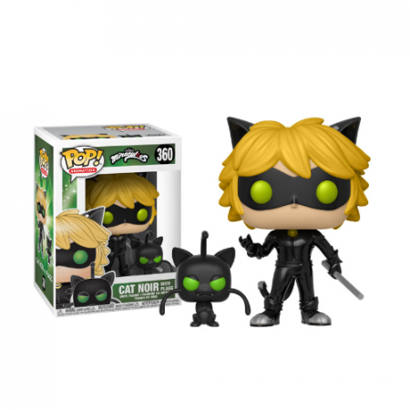 POP Cat noir con Plagg Miraculous