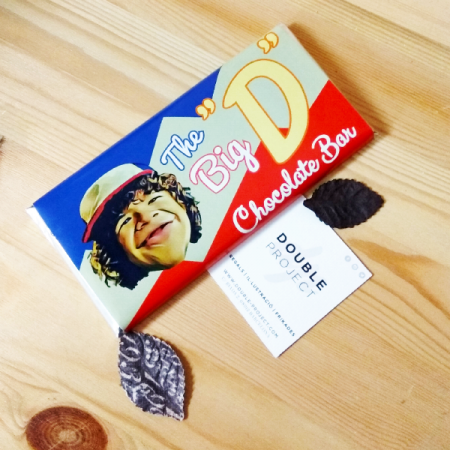 Stranger Things Tableta de Chocolate Dustin The big D | Double Project
