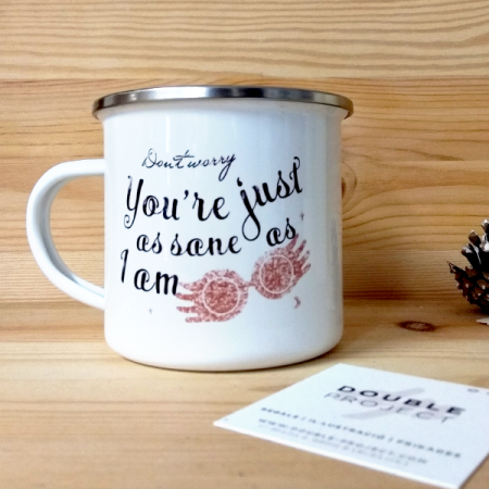 Taza metálica vintage You're just as sane as I am | Double Project