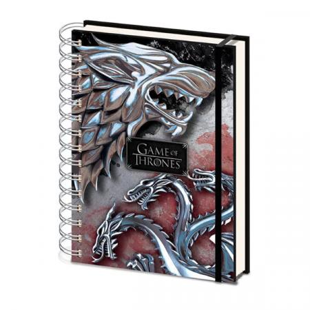 Juego de Tronos libreta a5 Stark & Targaryen | Double Project