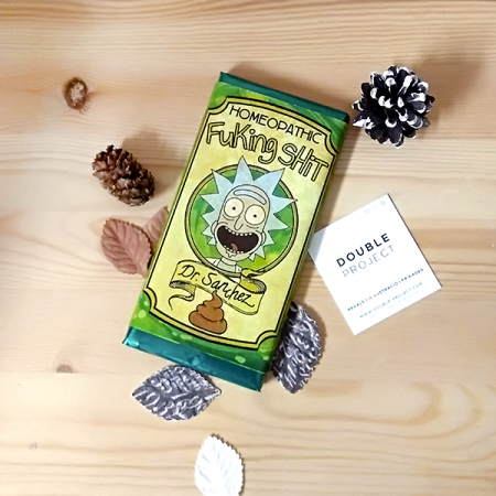 Rick y Morty Tableta Chocolate Homeopathic Fuking Shit | Double Project