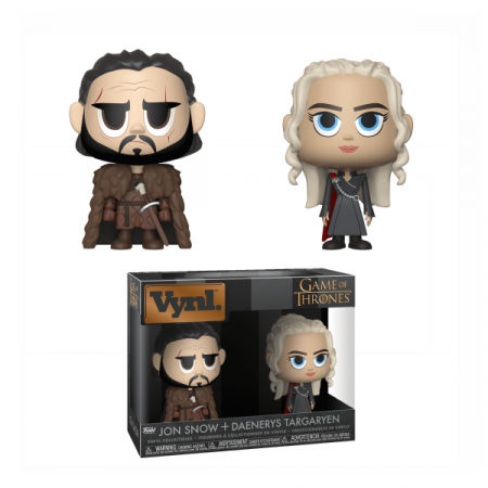 Juego de Tronos Pack Vynl Jon Snow Daenerys Targaryen   Double Project