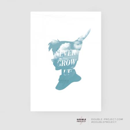 Lámina Never Grow Up | Double Project