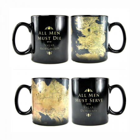 Juego de Tronos Taza sensitiva Mapa All Men Must Die Valar Morghulis | Double Project