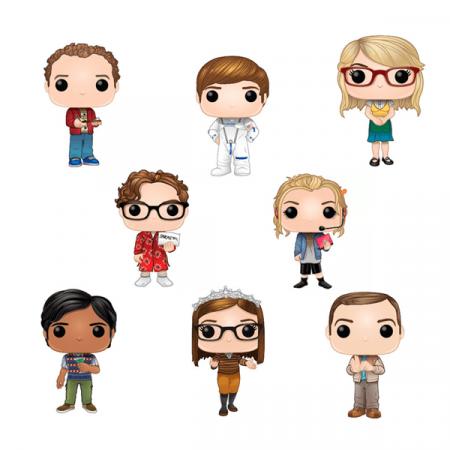 The Big Bang Theory POP Pack Leonard + Penny + Sheldon + Amy + Raj + Howard + Bernadette + Stuart | Double Project