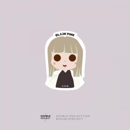 BlackPink Sticker Lisa | Double Project