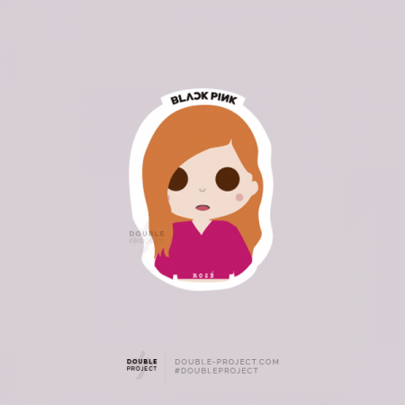 BlackPink Sticker Rosé | Double Project