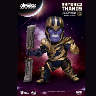 Marvel Vengadores Endgame Egg Attack Figura Armored Thanos | Double Project
