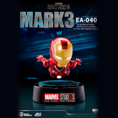 Figura Egg Attack Iron Man Mark III Levitador Marvel | Double Project