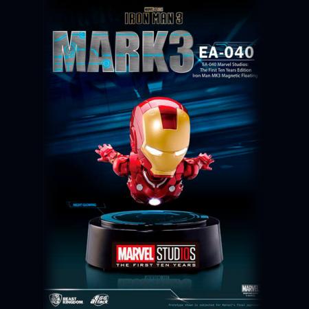 Figura Egg Attack Iron Man Mark III Levitador Marvel | Double Project