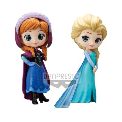 Disney Pack 2 figuras Q Posket Anna & Elsa | Double Project