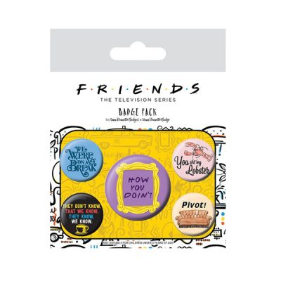 Friends Pack 5 Chapas Frases | Double Project