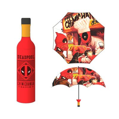 Marvel Paraguas Deadpool Botella Chimichanga | Double Project
