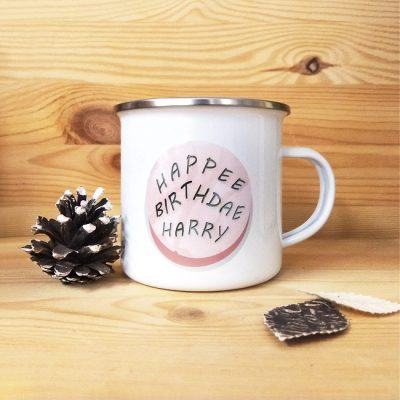 Taza metálica vintage Hapee Birthdae | Double Project