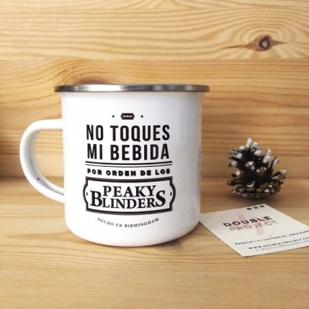 Taza metálica vintage No toques mi bebida | Double Project