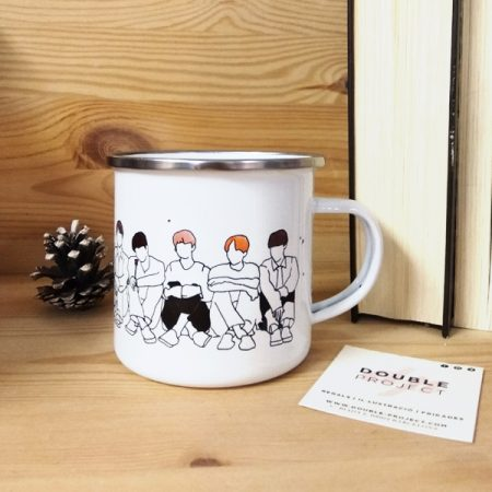 Taza metálica Keep Calm and listen to BTS | Double Project