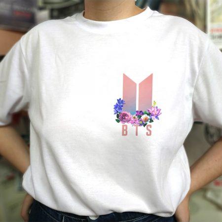 Camiseta Flores logo | Double Project