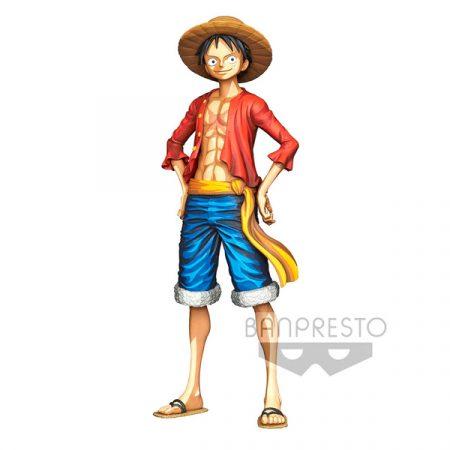 One Piece Figura Banpresto Monkey D. Luffy Grandista Manga Dimensions 27cm   Double Project