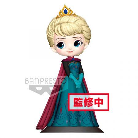 Disney Q Posket Elsa Coronación Style A Normal Color | Double Project