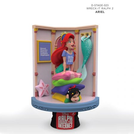 Disney Figura Diorama Ralph Rompe Ariel & Vanellope | Double Project