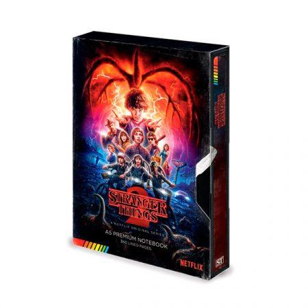 Stranger Things libreta PREMIUM a5 Simulación VHS 3a temporada | Double Project