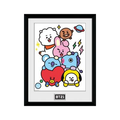 BT21 Póster enmarcado BT21 Characters Stack | Double Project