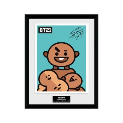 BT21 Póster enmarcado Shooky | Double Project