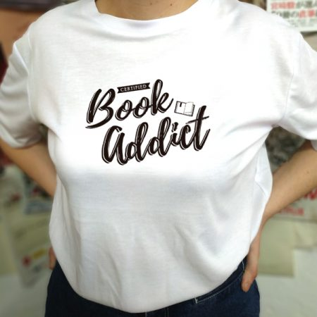 Camiseta Certified Book Addict 2   Double Project