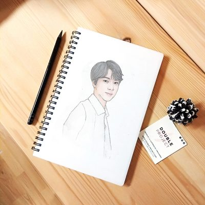 Libreta Espiral Jin BTS | Double Project