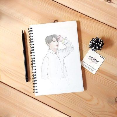 Libreta Espiral JungKook BTS | Double Project