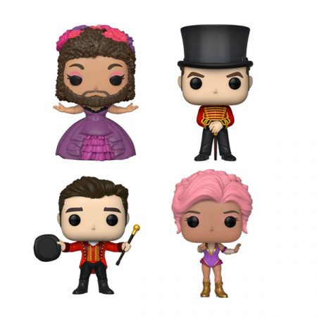 El Gran Showman Pack POPs P.T Barnum + Phillip Carlyle + Anne Wheeler + Bearded Lady   Double Project