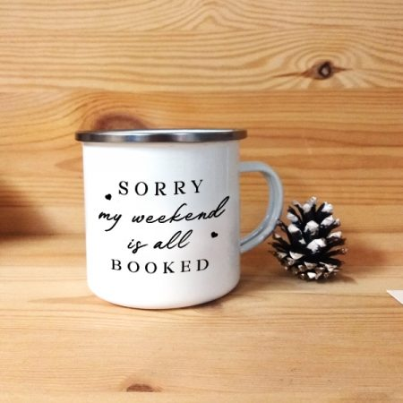 Taza metálica vintage I'm a Bookaholic | Double Project