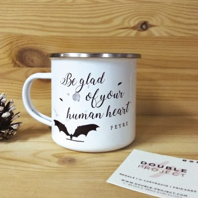Taza metalica vintage Be glad of your human heart | Double Project