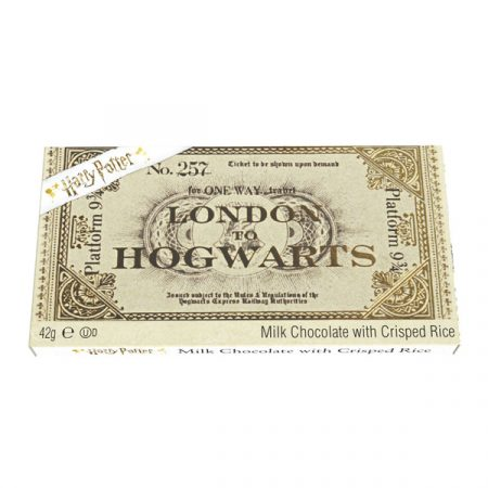 Harry Potter Tableta de Chocolate Ticket London to Hogwarts Platform 9 3/4 | Double Project