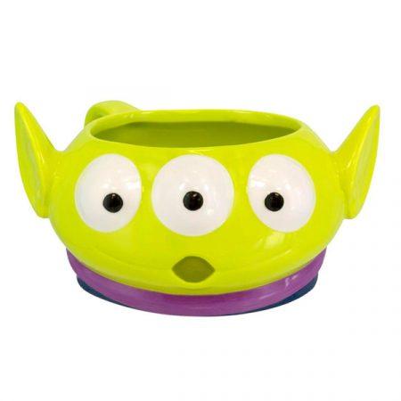 Taza de desayuno con forma Toy Story alienígena.