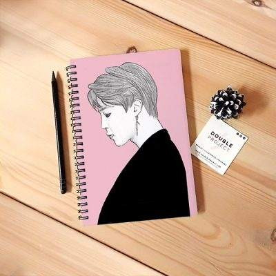 Libreta Espiral Jimin illustration | Double Project