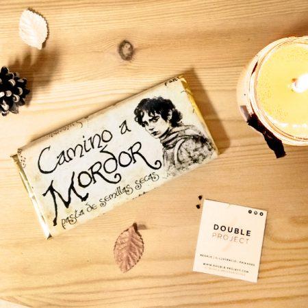 El señor de los anillos tableta de chocolate con anillo Camino a Mordor | Double Project