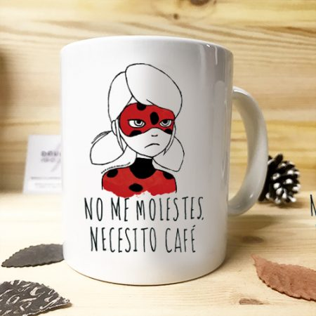 Ladybug Taza No me molestes, necesito Café | Double Project