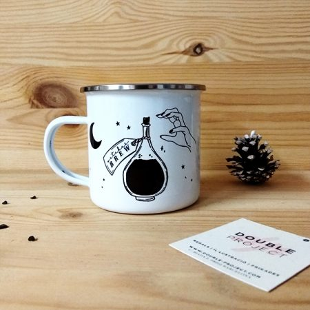 Taza vintage metálica Witcher Brew | Double Project