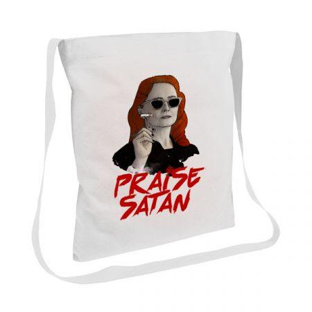 Tote bag asa larga Praise Satan   Double Project