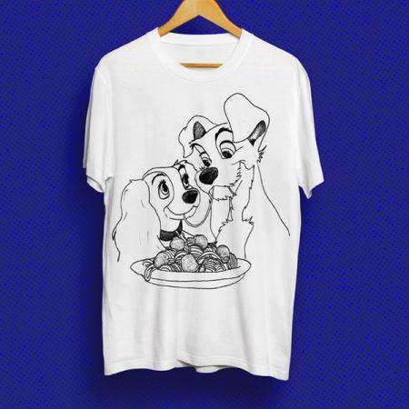 Camiseta Dama y el vagabundo | Double Project