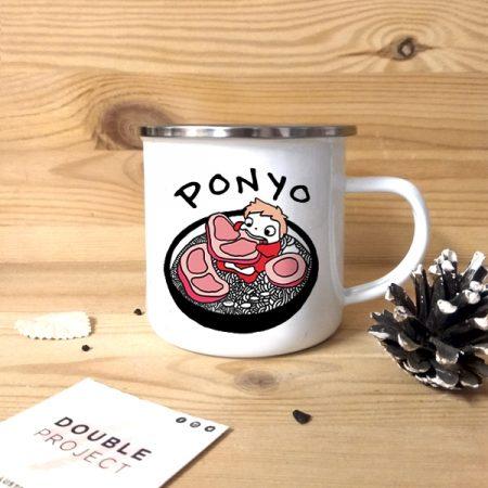 Taza vintage metálica Ponyo ambriento   Double Project