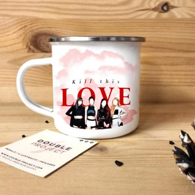 Taza Vintage metálica Kill This Love | Double Project