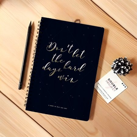 Libreta espiral Don't Let the Hard Days Win   Double Project