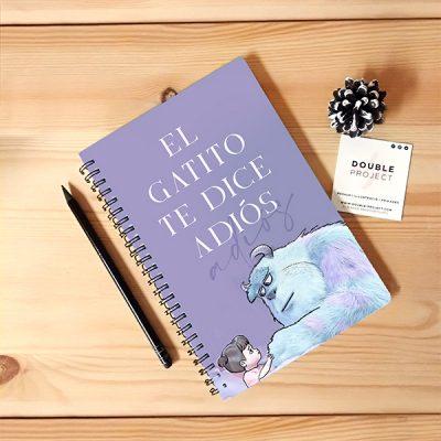 Libreta Espiral El gatito te dice adiós | Double Project