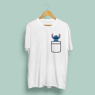 Camiseta Bolsillo Stitch | Double Project
