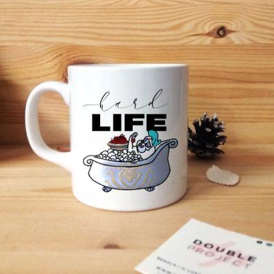 Taza Hard life | Double Project