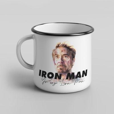 Taza vintage porcelana Yo soy Iron Man   Double Project
