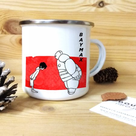 Taza vintage metálica Baymax   Double Project